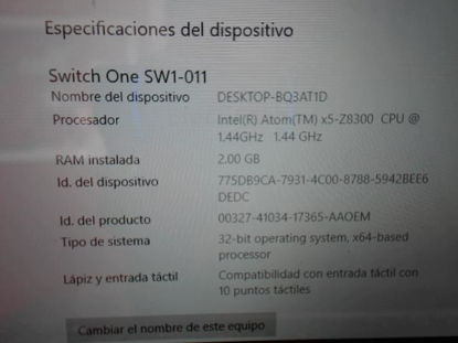 Picture of Acer Modelo: Switch One 10 - Publicado el: 19 Ene 2020